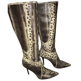 Jimmy Choo Snakeskin Boots