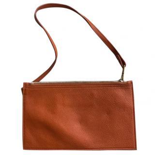 Ysl Brown Leather Clutch
