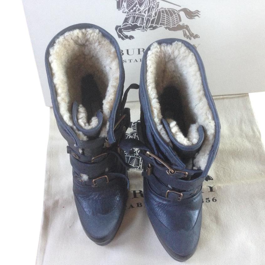 Burberry Prorsum aviator shearling boot
