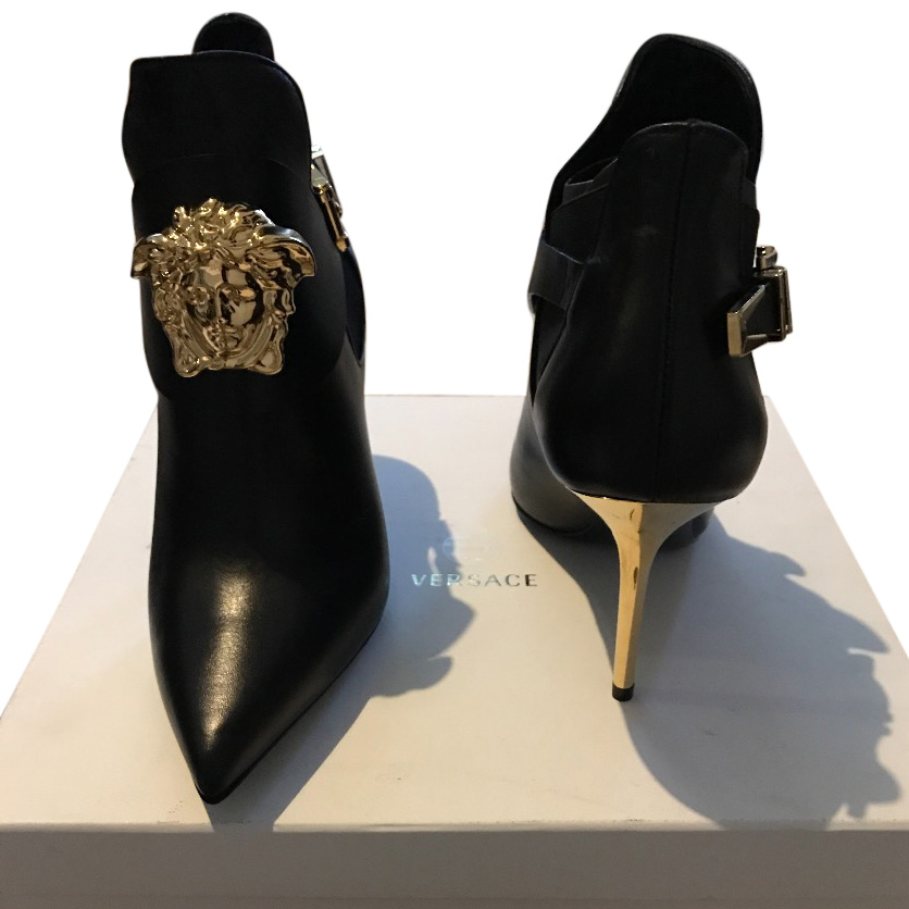 Versace Medusa Heeled Ankle Boots | HEWI
