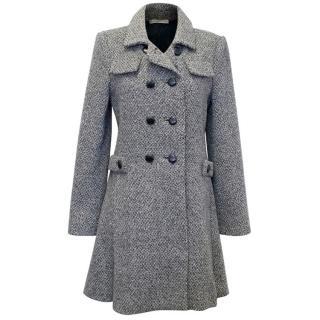 Balenciaga Grey Tweed Coat