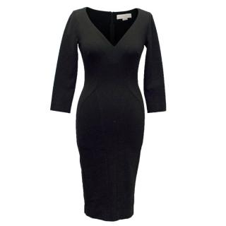 Stella McCartney Black Long Sleeve Bodycon Dress