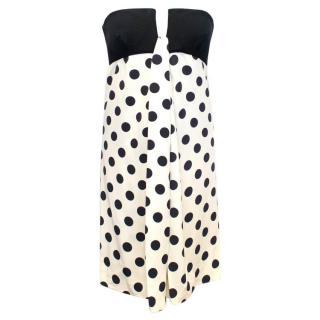 Valentino Strapless White Polka Dot Dress
