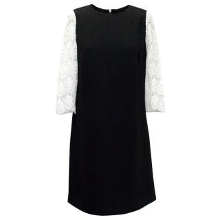 Claudie Pierlot Black Dress with White Lace Sleeves