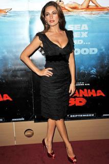 Armani Collezioni Black Lace Dress with Velvet Waist and Bow
