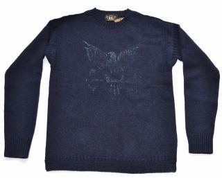 RRL Ralph Lauren navy cotton jumper