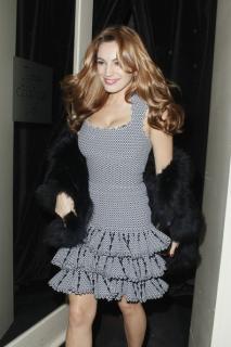 Alaia Grey And Black Scallop Edge Dress