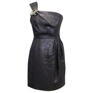Matthew Williamson Metallic One Shoulder Dress
