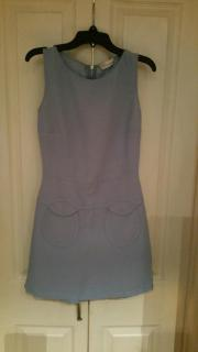 Valentino Red Shift Dress in Baby Blue
