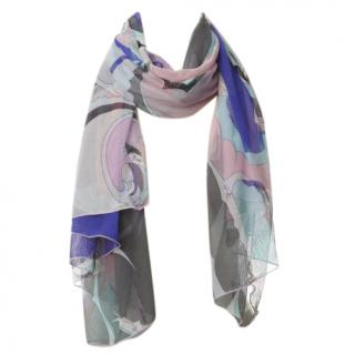 Emilio Pucci Multicoloured Scarf in Mesh Fabric
