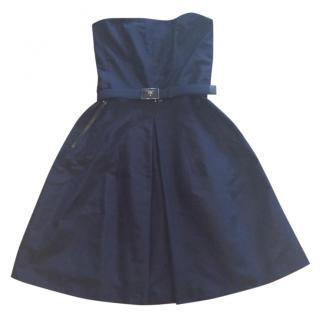Prada Navy Bustier Dress