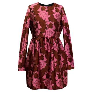 P.A.R.O.S.H. Middle Length Floral Fit&Flare Dress