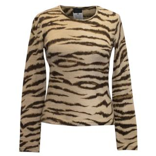 D&G Tiger Print Top