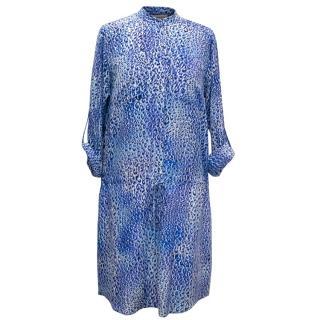 Rebecca Taylor Blue Leopard Print Tunic