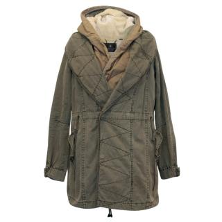Maison Scotch Two Piece Khaki Coat