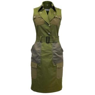 Altuzarra Natural Snipe Sleeveless Cotton-blend Dress