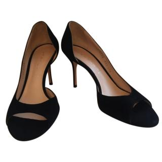 Casadei Black Suede Heels
