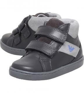 Armani Boys Mandrill leather shoes