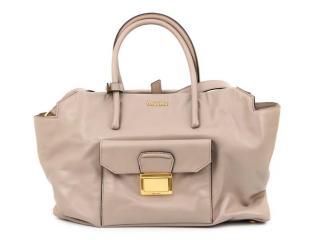 Miu Miu Soft Calf Leather Tote bag in Light Grey