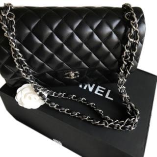 Chanel Jumbo Black Leather Flap Bag