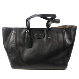 Miu Miu Calf Leather Shopping Bag In Black