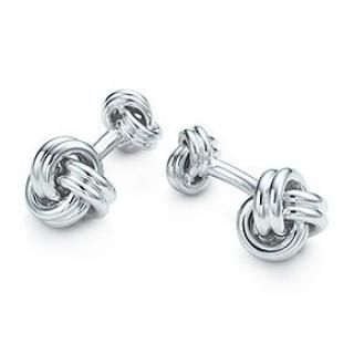 Tiffany & Co Sterling Silver Knot Cufflinks