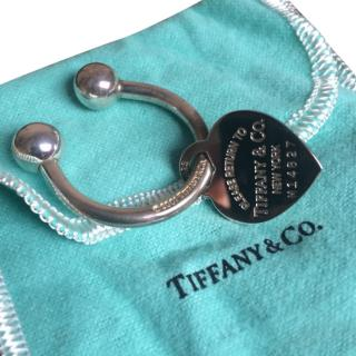 Tiffany & Co Sterling Silver Heart Tag Keyring