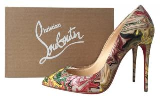 Christian Louboutin Marble Patent Pigalle Follies