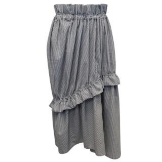 Paskal Black And White Houndstooth Skirt