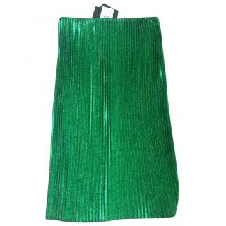 Lanvin Green Pleated Skirt