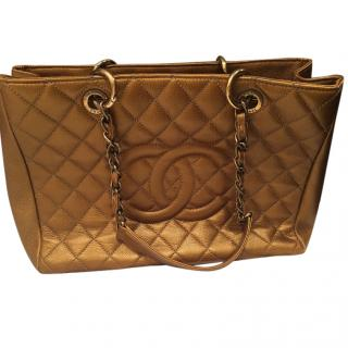 Chanel Gold Shopping tote