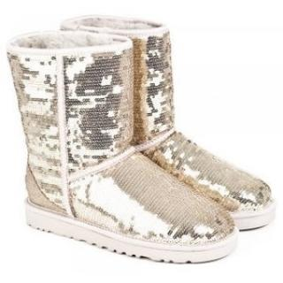 Ugg Classic Gold Sparkle Boots
