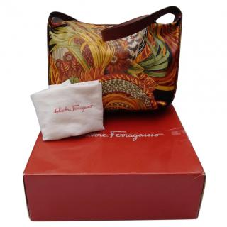 Salvatore Ferragamo Vintage Exotic print Shoulder Hobo Bag