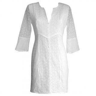 Max Azria white broderie anglais dress, size 6