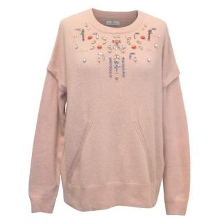 Day Birger Mcikleson Soft Pink Jumper with Crystals