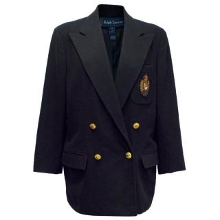 Ralph Lauren Navy Wool blazer with Crest