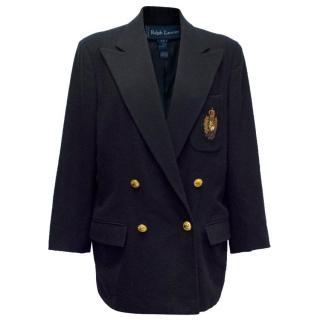 Ralph Lauren Navy Wool blazer with Crest