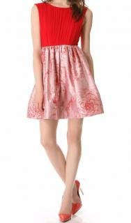 Alice and olivia red silk dress