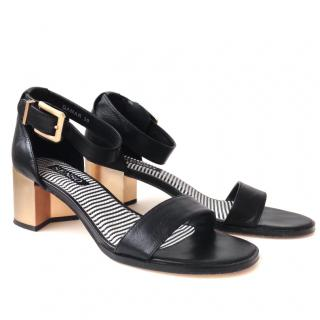 Senso Black Leather Sandals