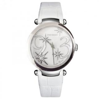 Davidoff Swiss Movement White Alligator Ladies watch