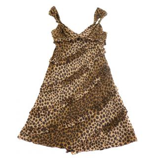 Moschino Cheap and Chic Leopard Print Dress