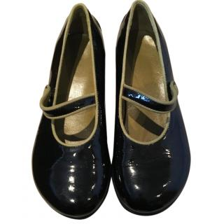 Tods Girls Black Patent Shoes