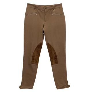 Ralph Lauren Brown Jodhpurs with Suede Inserts