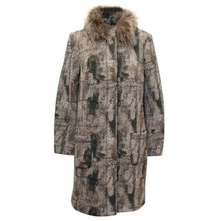 Airfield Cotton Coat with Fur Collar
