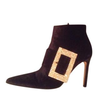 Gina Crushed Velvet ankle boots