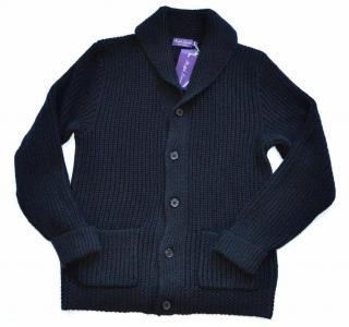 Ralph Lauren Purple Label cashmere blend black cardigan