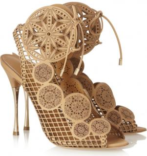 Nicholas Kirkwood Loki Laser Cut Leather Sandals