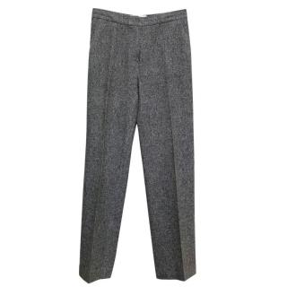 Sportmax Grey Textured Trousers
