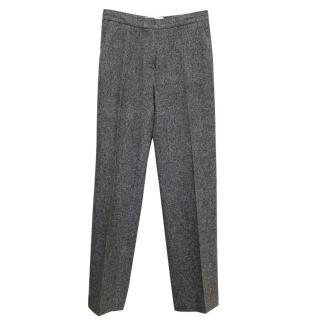 Sportmax Grey Textured Trousers