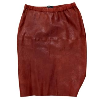Isabel Marant Red leather /suede skirt